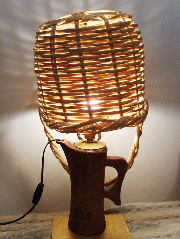 Karboojeh DIY Table Lamp with Basket Lampshade - Tutorial
