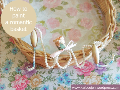 Crafty DIY: How to paint a romantic basket